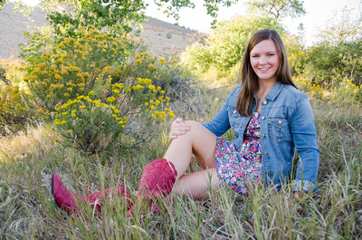Outdoor senior portrait